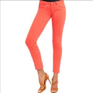 CAbi Lobster Pigment Coral Skinny Jeans
